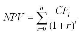 Чистая текущая стоимость (формула)