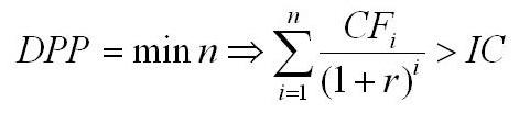дисконтированный срок окупаемости инвестиций (формула)