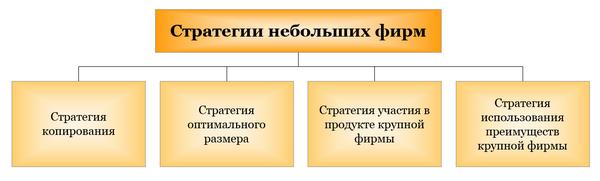 Стратегии небольших фирм