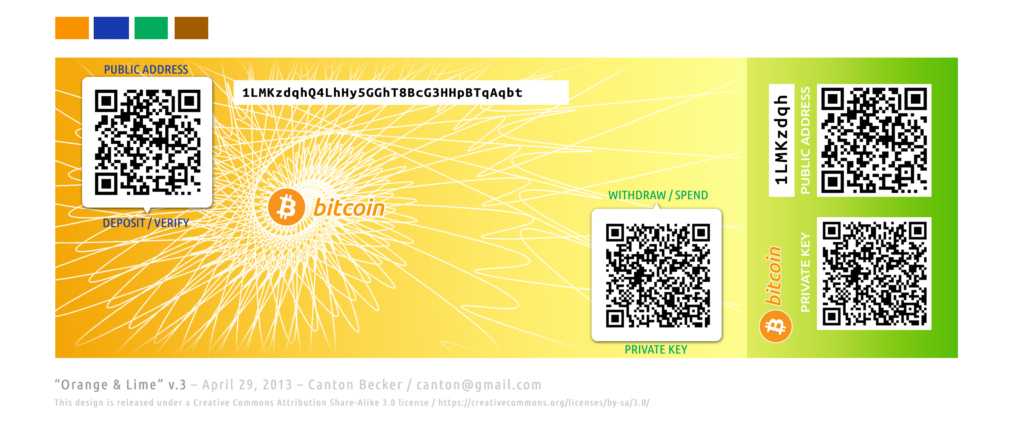 Бумажный кошелек биткоин