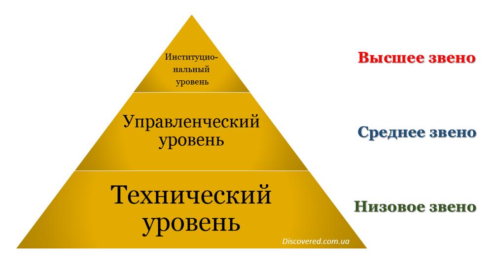 Уровни управления в организации
