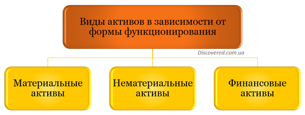 Виды активов в зависимости от формы функционирования
