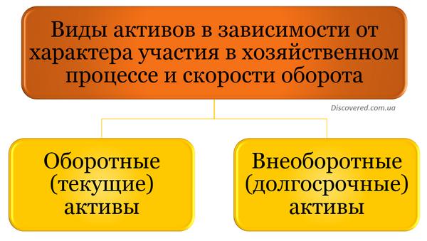 Виды активов в зависимости от характера участия в хозяйственном процессе и скорости оборота