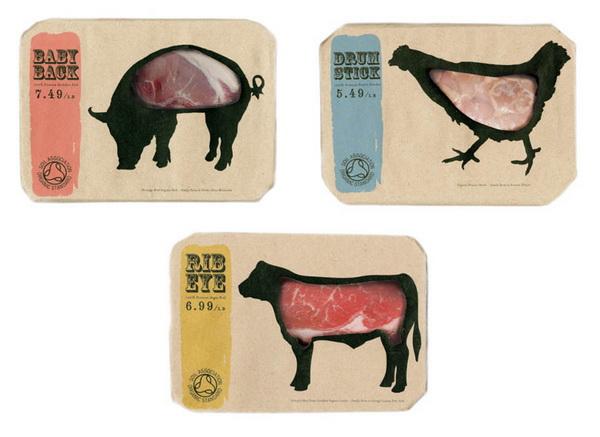 Необычная упаковка для мяса