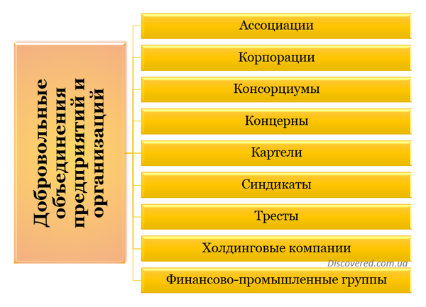Формы объединений предприятий
