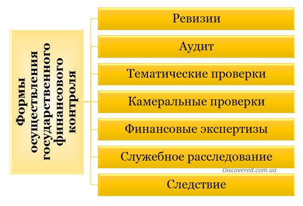 Формы государственного финансового контроля