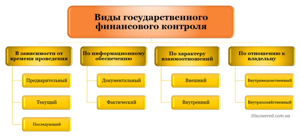 Виды государственного финансового контроля