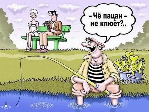 Карикатура про клёв