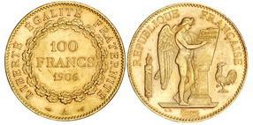 Латинский монетный союз: 100 франков