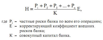 Общий размер риска (формула)